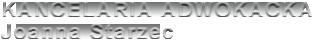 Kancelaria Adwokacka Joanna Starzec